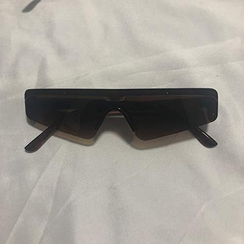 Polarisierte Sonnenbrille Für Männer Und Frauen Randlosen Rahmen,anti Glare Uv-schutz Trendy Geeignet Für Wandern Angeln-champagne Frame Braune Linse 14.6x13.5cm(6x5inch)