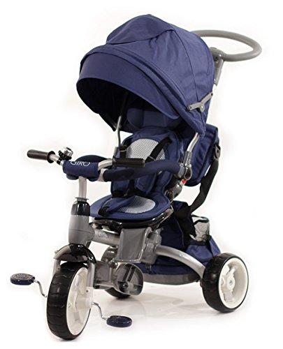 Baby's Clan GIRO.00 - Passeggino/Triciclo Multifunzione 6 in 1, Blu