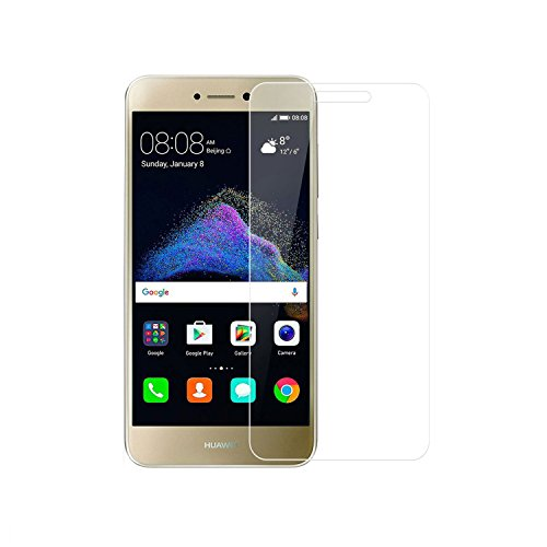 Huawei P8 Lite 2017 Tempered Glass, WindTeco 2 Pack Tempered Glass Screen Protector Film for Huawei P8 Lite 2017