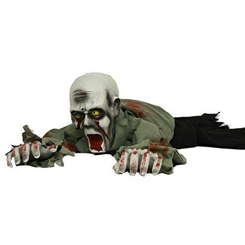 Halloween-Dekorationen, binokularen rot blinkenden elektrischen kahlkriechenden Geist, berühren sprachaktivierte Sensation Crawling Geist, Bar Spukhaus geheimen Raum Dekoration Requisiten ZDDAB (Elektrische Halloween Requisiten)
