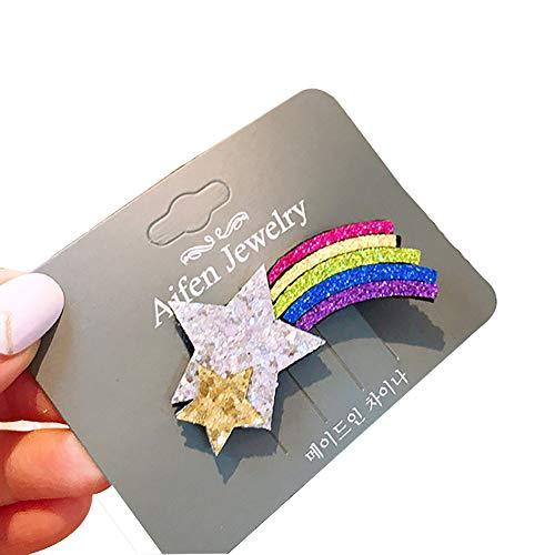 Sequined Hair Clips Regenbogen Netter Regenbogen-Haarclips Spielerische nette Haarspange Haarband Baby-Blumengeschenke 1pc
