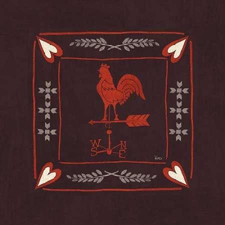 Feeling-at-home-Kunstdruck-Little-Red-Farm-Tile-IV-cm43x43-Poster-fuer-Rahmen -