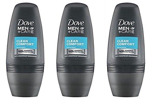 Dove Men Care - Desodorante Roll-On Clean Comfort, 50 ml - [Pack de 3]