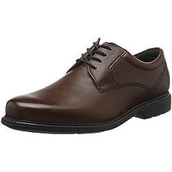 Rockport Charlesroad Plaintoe, Zapatos de Cordones Derby para Hombre, Marrón-Braun (Tan II), 42 UE