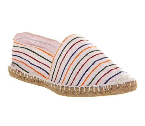 Office Solemate Espadrille White Multi Stripe - 9 UK