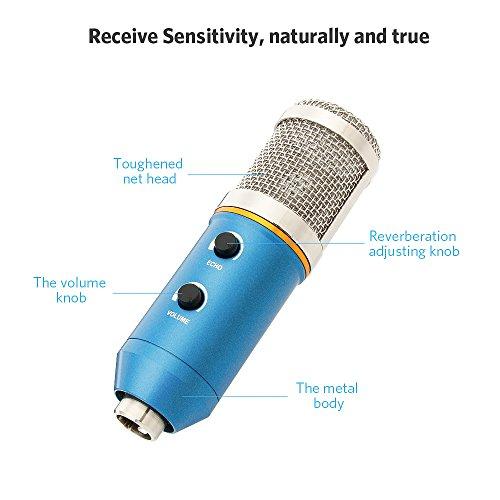 7090cb78fa05b Micrófono Condensador USB Profesional para Grabar y Cantar