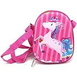 Shopaholic Unicorn 3D EVA Hardtop Small Sling Bag for Kids (Pink)