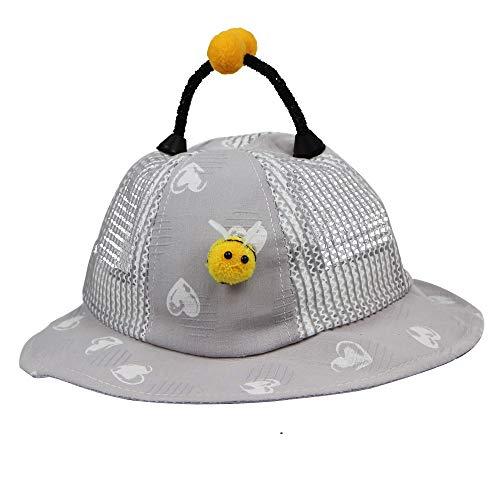 Gehen Pink Team Kostüm - CCIKun Sonnenhut Baby Hut UV-Schutz Fisherhut Kappe Sommerhut Süß Cartoon Biene Hut Atmungsaktiv Freizeithut für 6 Monate-2 Jahre altes Baby(grau,Einheitsgröße)