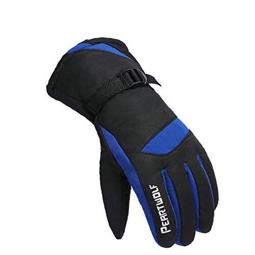 Benutzerdefinierte Winter-handschuhe (Blisfille Ski Handschuhe Export Benutzerdefinierte Heizhandschuhe Elektrische Handschuhe Herren Winter Baumwollhandschuhe Blue One Size)