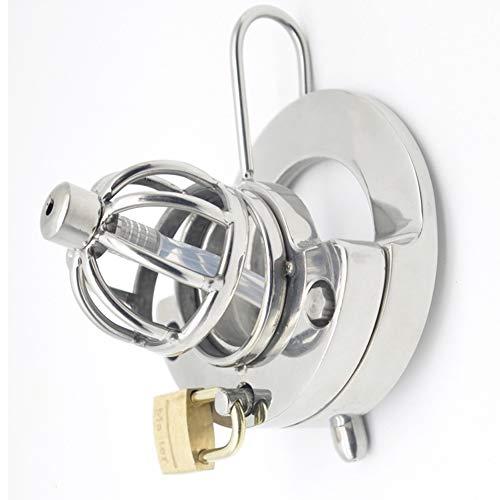 Greymond Edelstahl Keuschheitsgürtel für Männer mit Katheter (50 mm Ring) 165 -