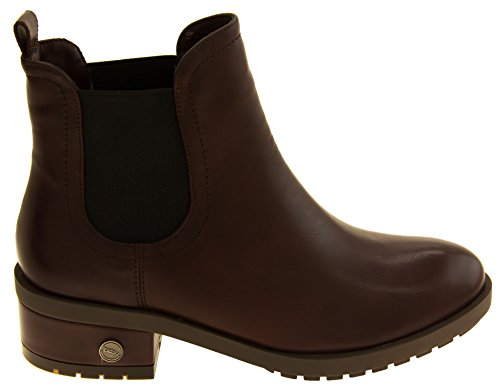 Betsy Mulheres Peles Couro Boots Forrado Imitação Bordeaux Falso De De Ankle qqrxAd6