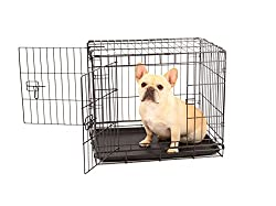 Carlson Secure & Compact Double Door Metal Dog Crate, Small