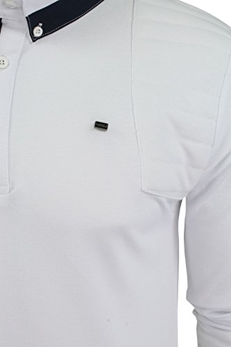 Herren kurzärmliges Polohemd aus der Blackout Collection von Voi Jeans Cole - White