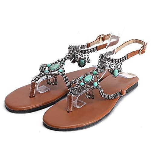 Alaso - Sandalias planas de verano para mujer
