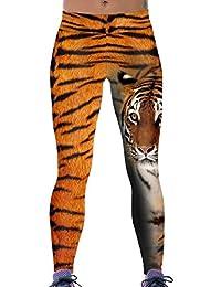 Lovelife' Women Tiger Digital Printed Yoga Workout Capri Leggings