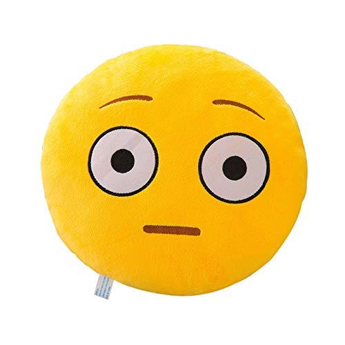 Felicove 32 cm weicher Ausdruck Kopfkissen - Smiley Emoticon Plüsch Spielzeugpuppe - Kissenbezug Cover Kopfkissen Zierkissen Zierkissenbezüge Kissen