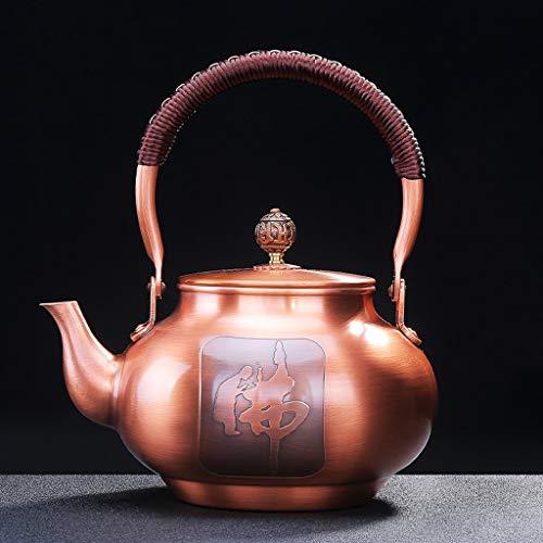 CXQ Chinesischen Stil Retro Style Cast Kupfer Teekanne Haushalt Große Kapazität Elektrische Keramik Herd Wasserkocher Bergamotte Brennen Teekanne Heben Strahl Griff