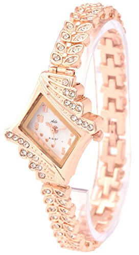 Aelo Rose Gold Analog White Dial Girls Watch – Www1042