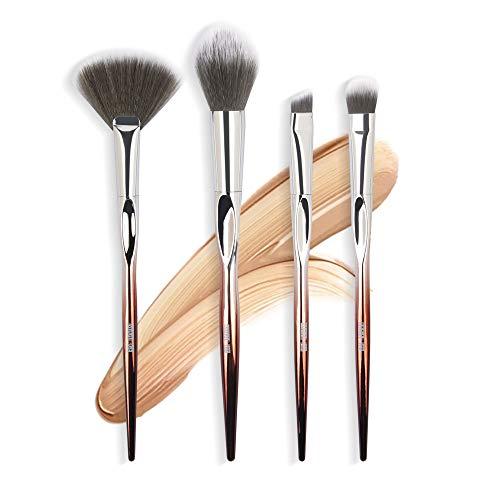 brosse makeup 4pcs / set pinceaux de maquillage cosmétiques set fard à paupières poudre de fondation