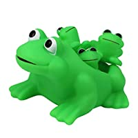 HEREB Baby Toys, Kids Children Bath Time Family Set Toy Squeezing Frog Floating Bath Tub Toys