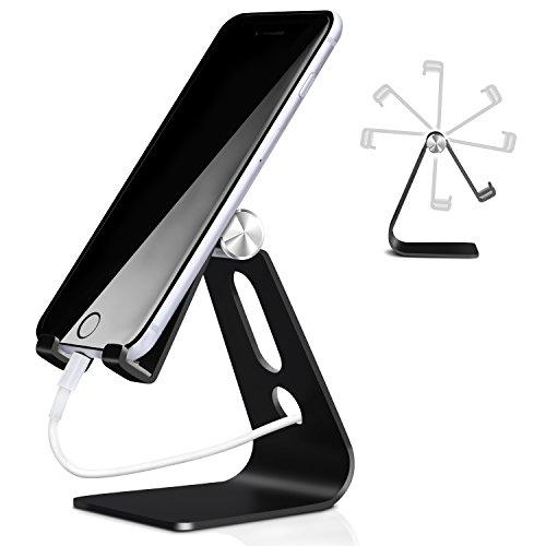Multi-Winkel Handy Ständer, Phone Ständer, Handyhalterung, iPhone Dock, Wiege, Einstellbare Lade & Anti-Skid Handy Halter für Samsung, Tisch Zubehör, Schreibtisch, E-Reader, andere Smartphone