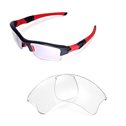 Walleva Ersatzgläser für Oakley Flak Jacket XLJ Sonnenbrille - Mehrfache Optionen (Klar)