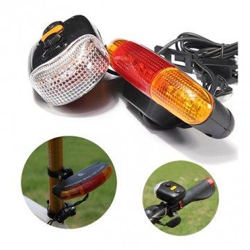 Man Friday 3 -en-1 7 LED vélo clignotants des feux de freins Corne Indicateur Avertir