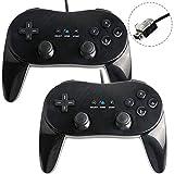 2x Classic Controller Pro GamePad für Nintendo Wii Schwarz
