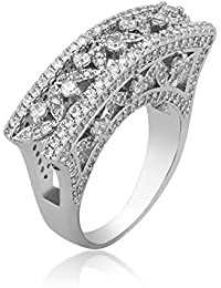 SHAZE Glitzy Curves Stylish Party Fashion Ring for Women/Girls Rings for Women Stylish | Ring for Girlfriend