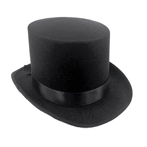 Black Top Hat Great Quality Hard Felt top Hat Delivered By Amazon ()