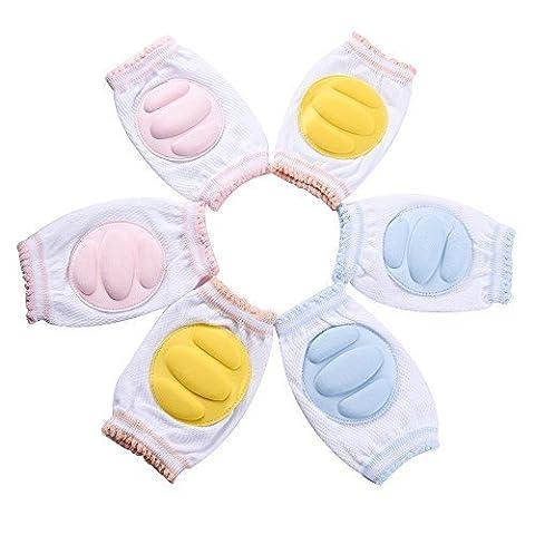 blulu Verstellbare elastische Baby Knie Pad kriechen Sicherheit Displayschutzfolie für Infant Kleinkind, (Spandex Elbow)