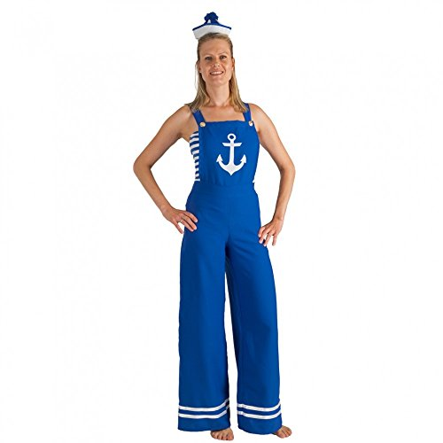 Pin Kostüm Up Marine - Krause & Sohn Kostüm Matrosin Latzhose blau Top Fasching Seefahrerin Pin Up Girl (46)