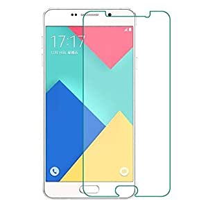 Aalika Samsung A710 Curved Edge 9H Hardness Toughened Premium High Qulaity Tempered Glass Screen Guard Protector
