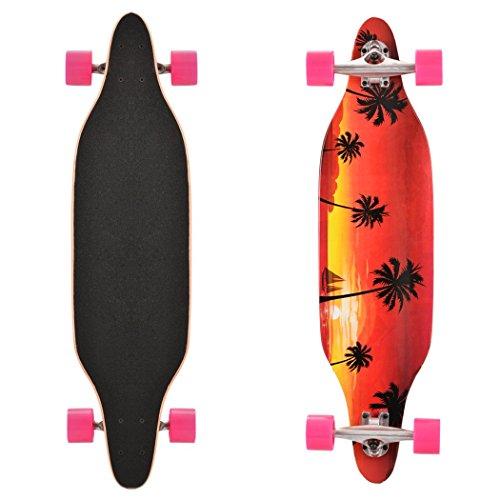 Preisvergleich Produktbild Teamyy Mode komplette Skateboard Fisch Longboard Max 75KG aus Ahornholz Kohlenstoffstahl ABEC-1und ABS Straßen Surfer Skateboard für Jung und Alt
