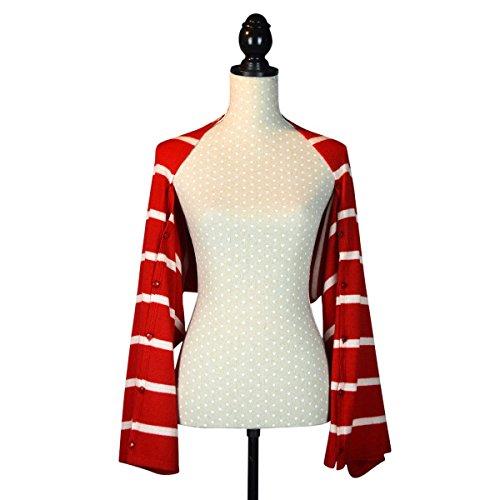 Poncho in lana misto cashmere con bottone in confezione regalo red Stripe Salida Para El Buen Venta De Bajo Precio En Línea Amplia Gama De Línea Barata Comercializable En Venta Éxito De Ventas En Línea e8OSaF