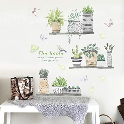 AITU WandtattoosWandbilder 30 * 90 cm , Wandaufkleber Bonsai Blumen Garten Pflanzen Wohnkultur PVC Küche Wandaufkleber DIY W