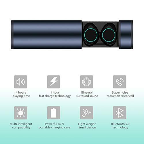 HolyHigh Bluetooth Kopfhörer in Ear Bluetooth Headset Stereo-Minikopfhörer Sport Wasserdicht mit Ladekästchen und Integriertem Mikrofon für Android Samsung iPad Huawei HTC (Dämmerung) - 4