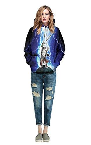 KiKa Monkey nisexe imprimé 3D sweat-shirt en unicore multi-style big pocket hoodiu Style 10