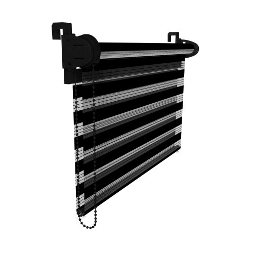 VICTORIA M Duo Klemmfix - Estor doble (fijación sin perforar), color negro, tamaño 60 x 150 cm