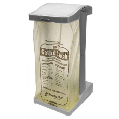 *keeeper System-Müllsackständer mit integriertem Aufbewahrungsfach, 60-120 l, Ole, Silber*
