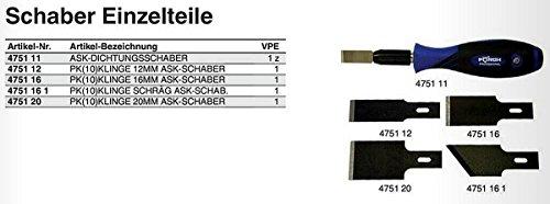 2 PK je 10 Klingen 20 mm für ASK Dichtungsschaber