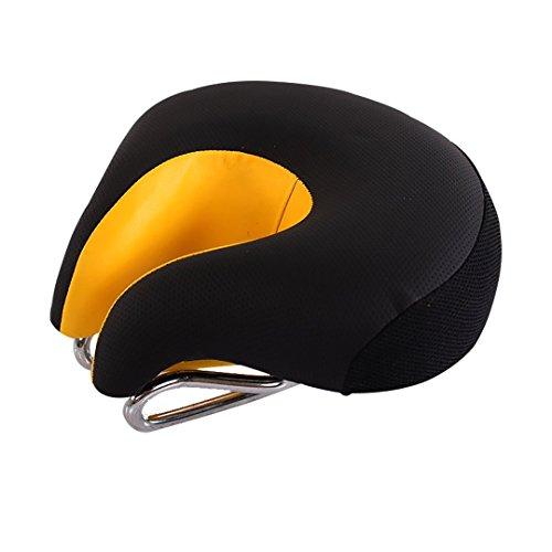 Sport Tent Fahrrad Sattel Sitz ohne Nase MTB Mountain mit higher Elastische Fahrrad Sitze Komfortable Ergonomische Radfahren Pad Kissen (Schwarz/gelb)