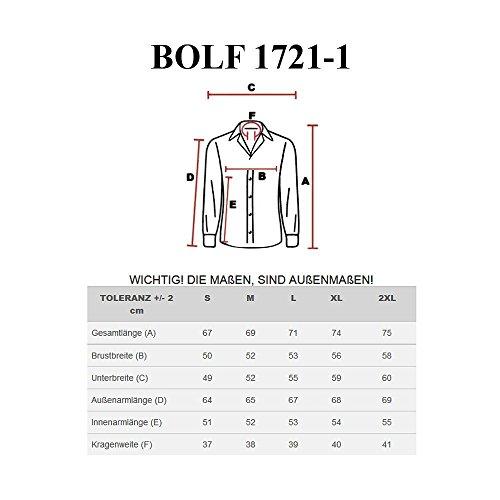 BOLF Herrenhemd Langarm Hemd Figurbetont Freizeithemd Klassisch 1721-1 Braun