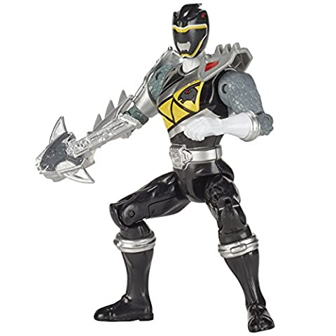 Power Rangers Figurine Dino Super charge 12 cm - Ranger noir mode dino
