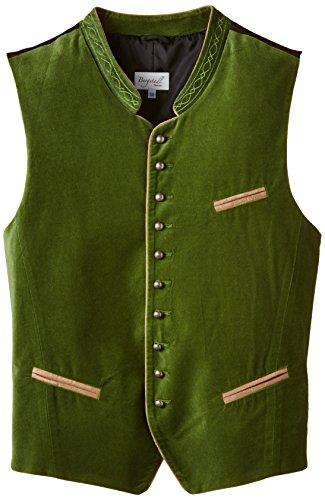 Bergstadl Herren Trachten Trachtenweste 10003S, Gr. Small (Herstellergröße: 48), Grün (grün 13)