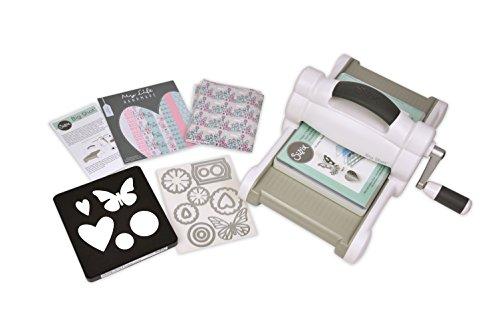 Sizzix Big Shot Starter Kit, Manuelle Stanz- und Prägemaschine, einschließlich Bigz- und Thinlits-Schablonen, Cardstock und Stoff, Größe A5 (15,24 cm)
