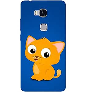Casotec Cat Drawing Design Hard Back Case Cover for Huawei Honor 5X