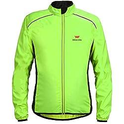 Chaqueta Impermeable para Hombres y Mujeres, Cazadora Cortavientos, Traje para Correr al Aire Libre, Traje de Ciclismo, Verde de Internet