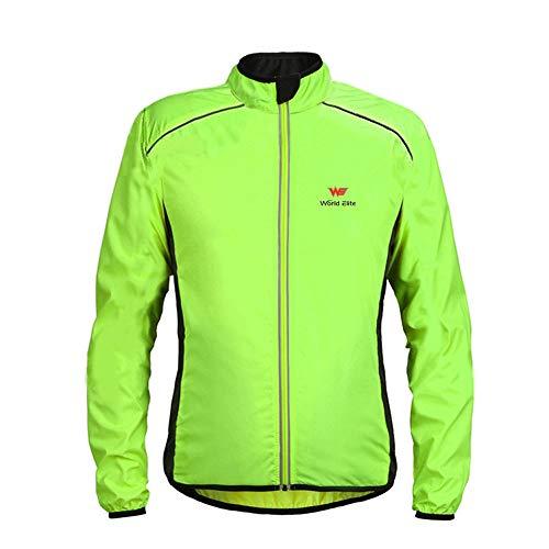 FRAUIT Herren/Frauen Unisex Hellgrün Sweatshirt Leichte Jacke Wasserdichte Windjacke Fahrrad Radfahren Sportjacke Pullover -