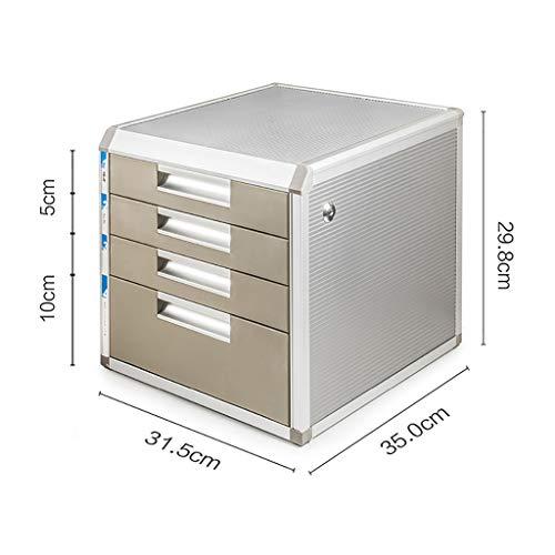 Cassettiera schedario armadio ufficio armadio archivio armadio contenitore basso multifunzione con serratura 4 piani cassetto in lega di alluminio cartelletta a4 armadio ufficio desktop ( colore : b )